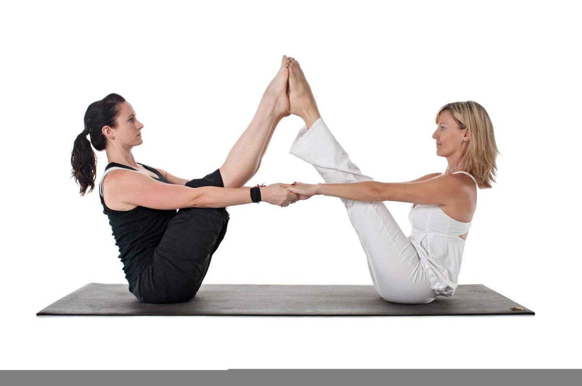 Yoga Poses Of Two Persons