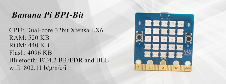 BPI:bit Webduino and arduino board with EPS32 for STEAM