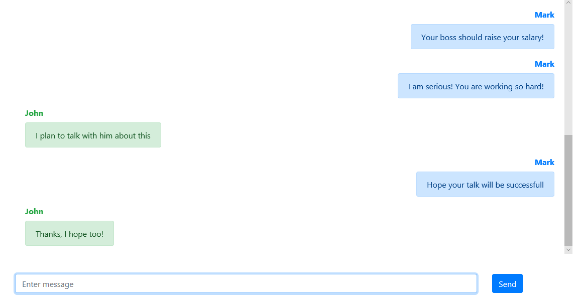 How to implement auto scroll of chat messages in Angular