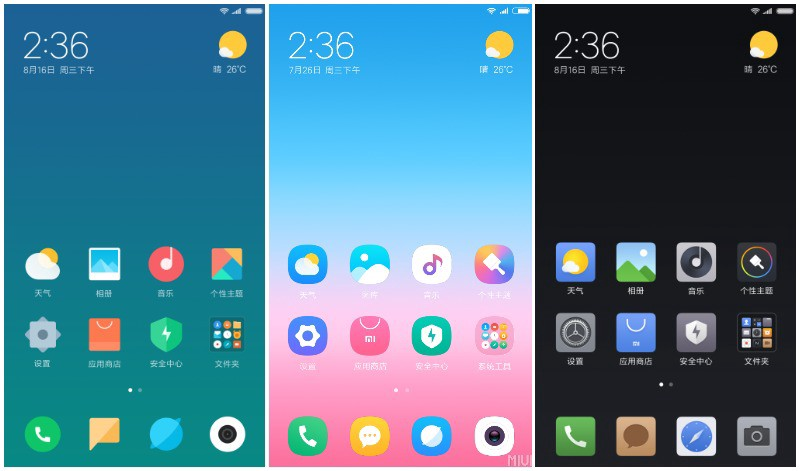 Here is the preview of the official MIUI 9 themes