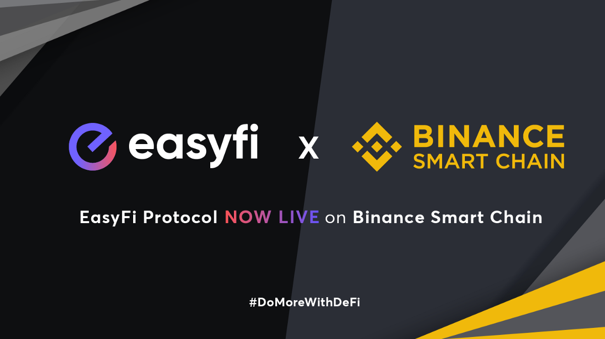 Easyfi Lending Protocol Is Now Fully Integrated And Deployed On The Binance Smart Chain By Easyfi Network Easyfi Network Apr 2021 Medium