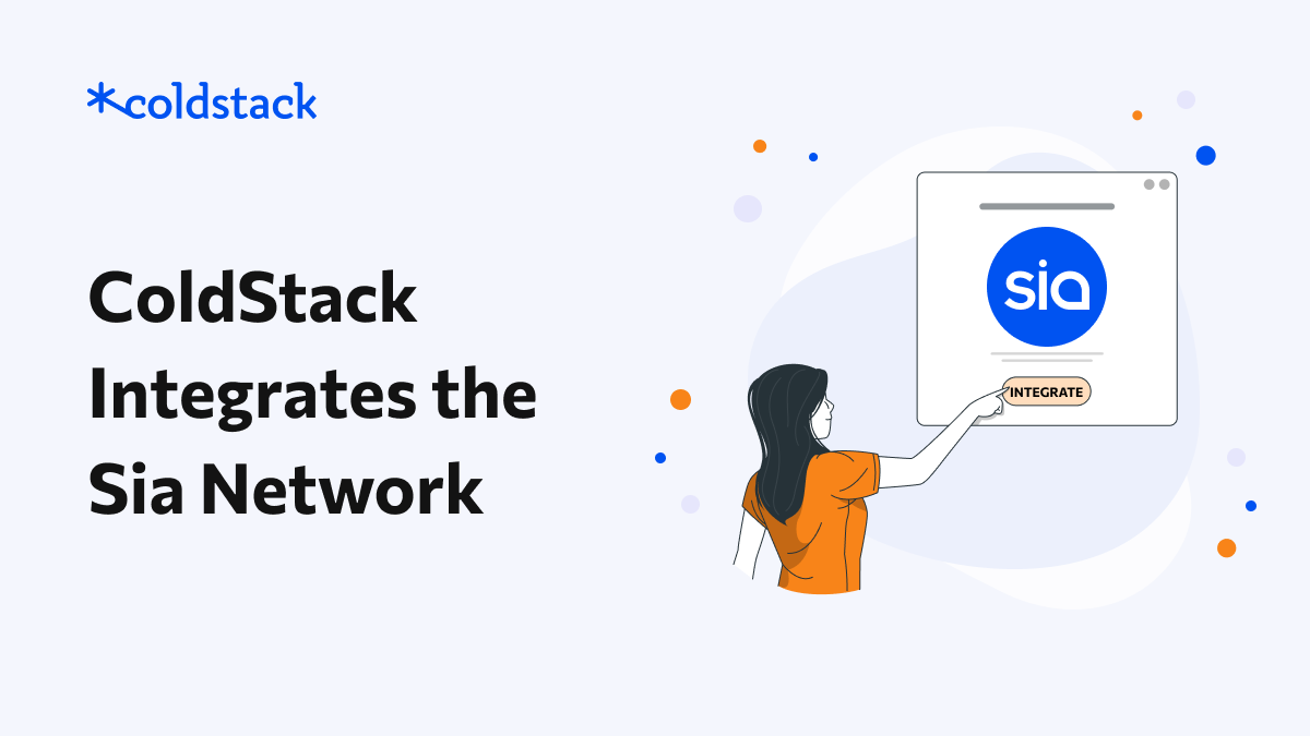 ColdStack Integrates the Sia Network