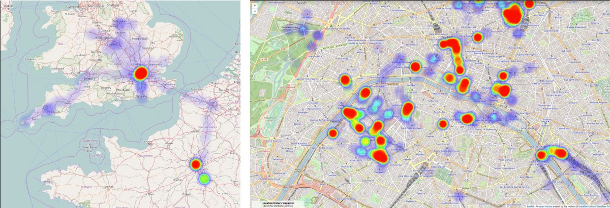 Create a Heat Map from your Google Location History in 3 ... on heat map excel template, heat map technology, heat map gis, heat map chart, heat map calendar, heat map software,
