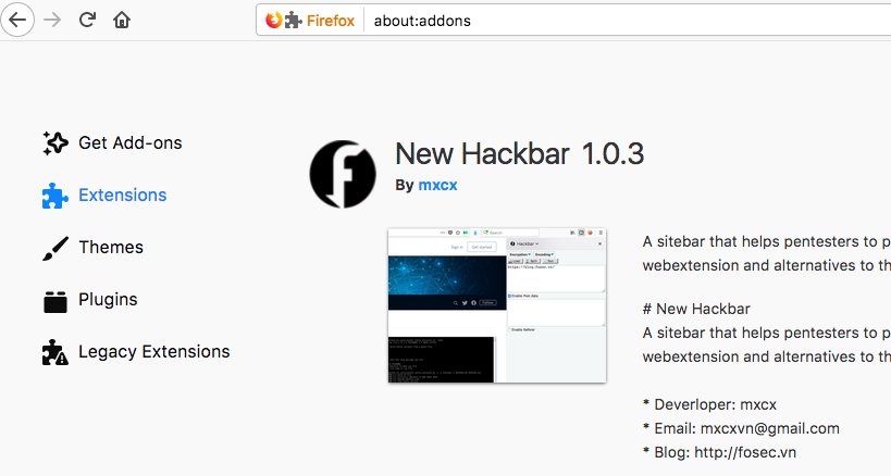 New Hackbar — Alternative to Hackbar addon in Firefox Quantum