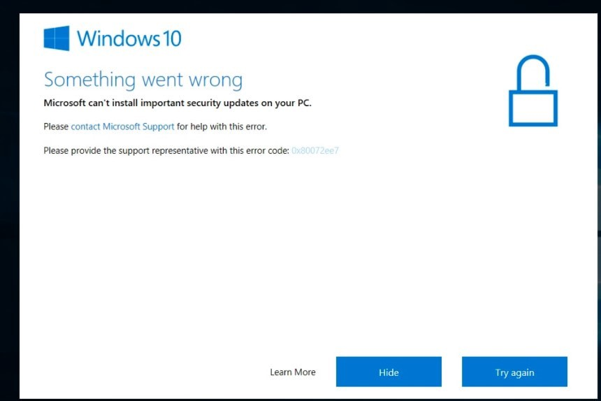 Something Went Wrong Windows 10 Install