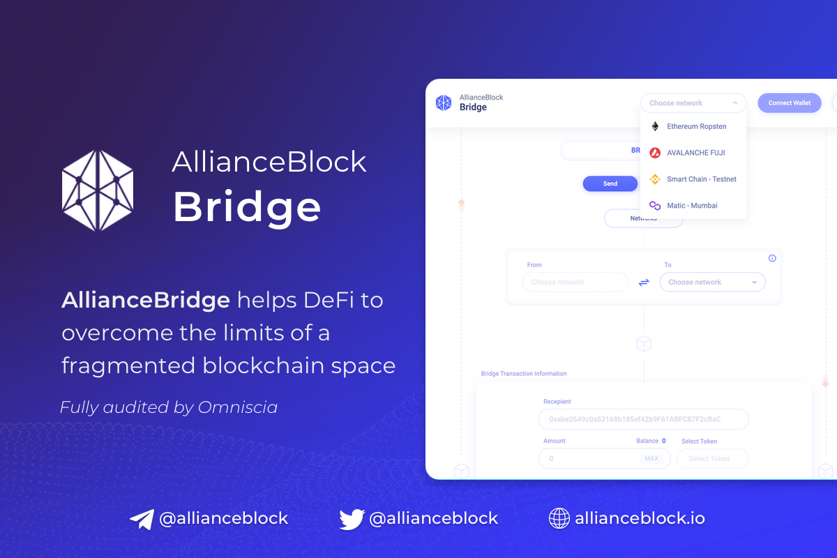 AllianceBridge helps DeFi to overcome the limits of a fragmented blockchain space