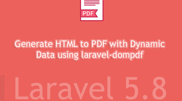 Laravel 5 8 — How to Generate HTML to PDF with Laravel domPDF