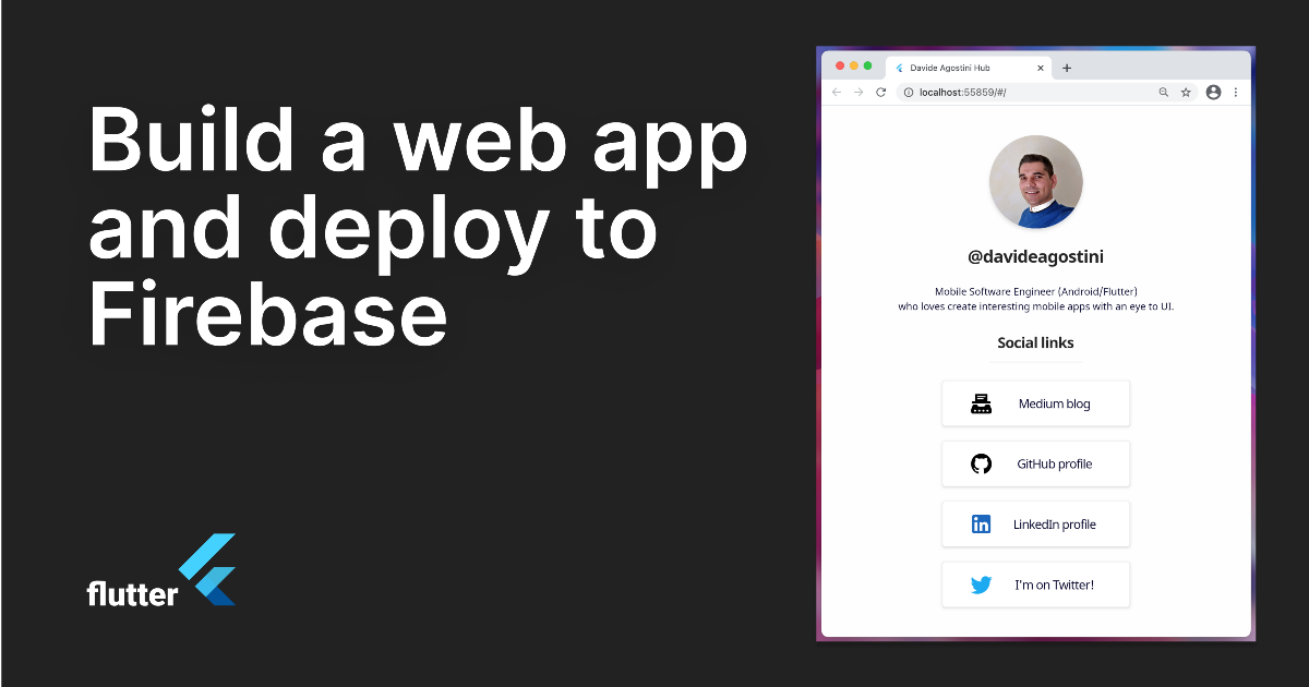 Build A Web App with Flutter and Deploy It to Firebase Hosting