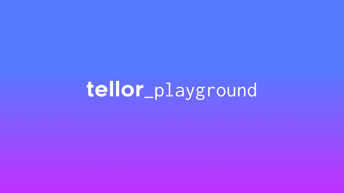 Play with Tellor