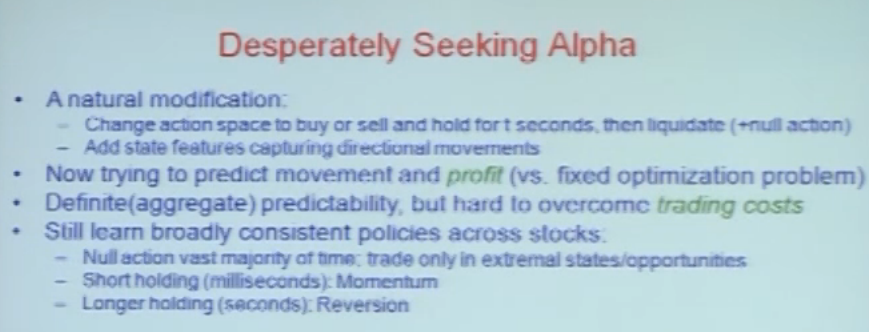 Alpha Generation ( Predicting Price Movement ) and Trading Using