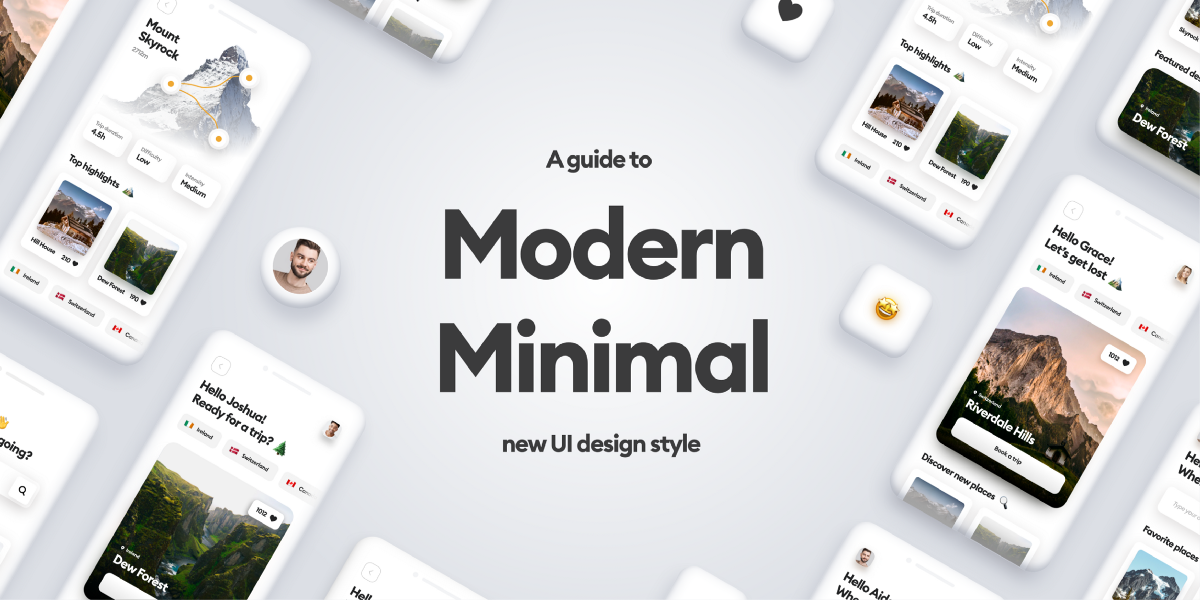 A guide to the Modern Minimal UI style | by Diana Malewicz | May, 2021 | UX Collective