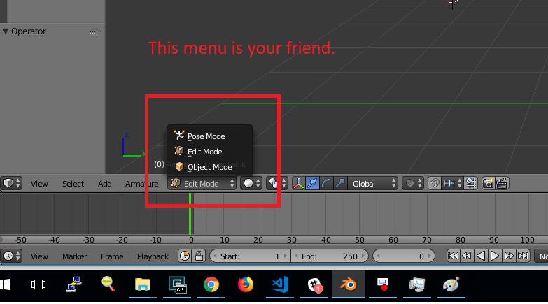 How to rig a character model for THREE js in Blender