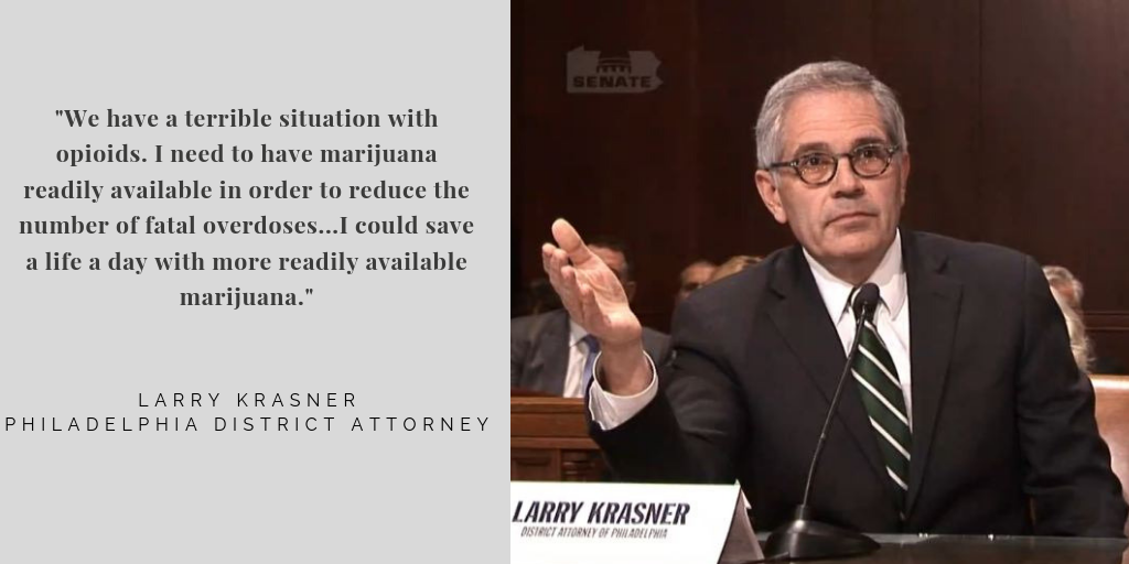 District Attorney Larry Krasner's remarks supporting legalization of