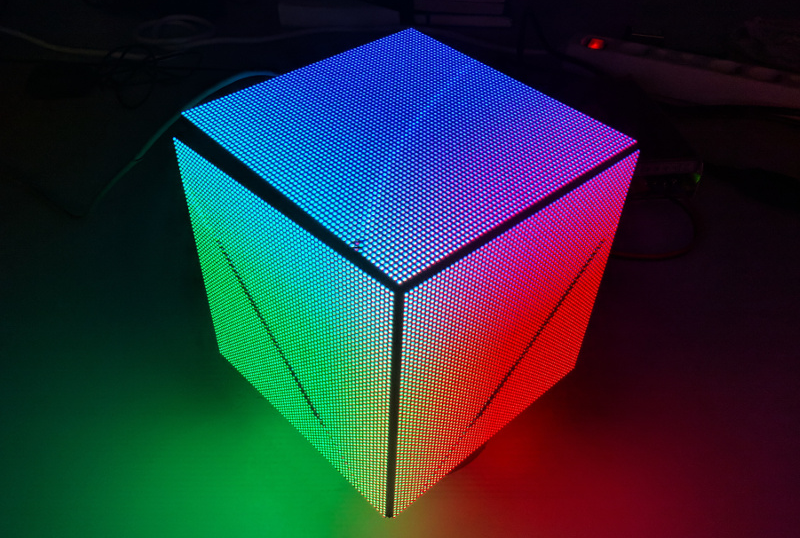 Wrapping OpenGL Shader Animations All Around an LED Cube