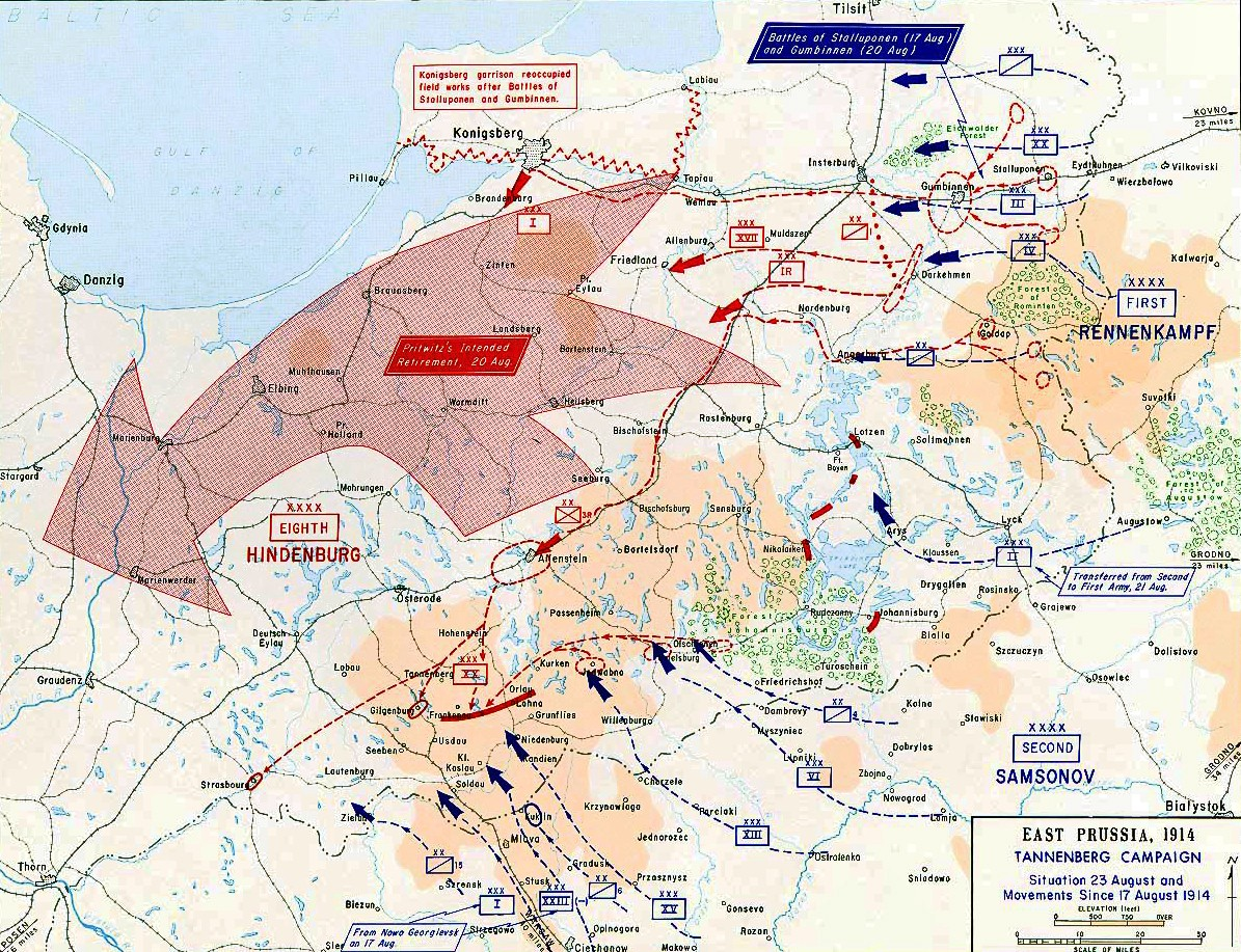The Maneuver That Kept Germany in WWI: The Battle of Tannenberg