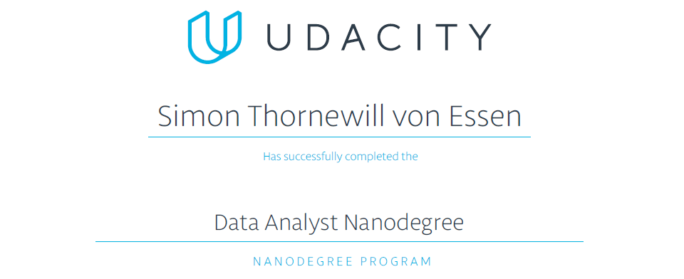 Course Review: Udacity Data Analyst Nanodegree - Simon Thornewill