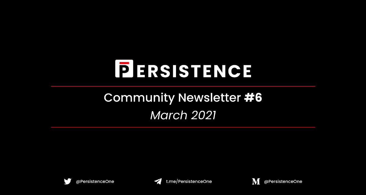 Community Newsletter #6—March 2021