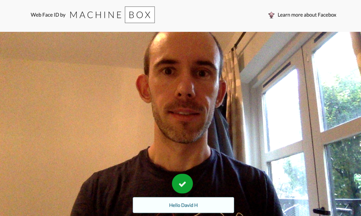 Introducing Web Face ID, how to use HTML5, Go and Facebox to