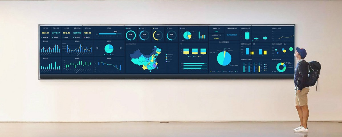 What is Data Visualization for Large Screen and How to Implement It?