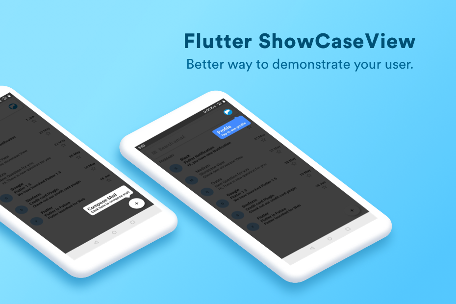 Flutter ShowCaseView package