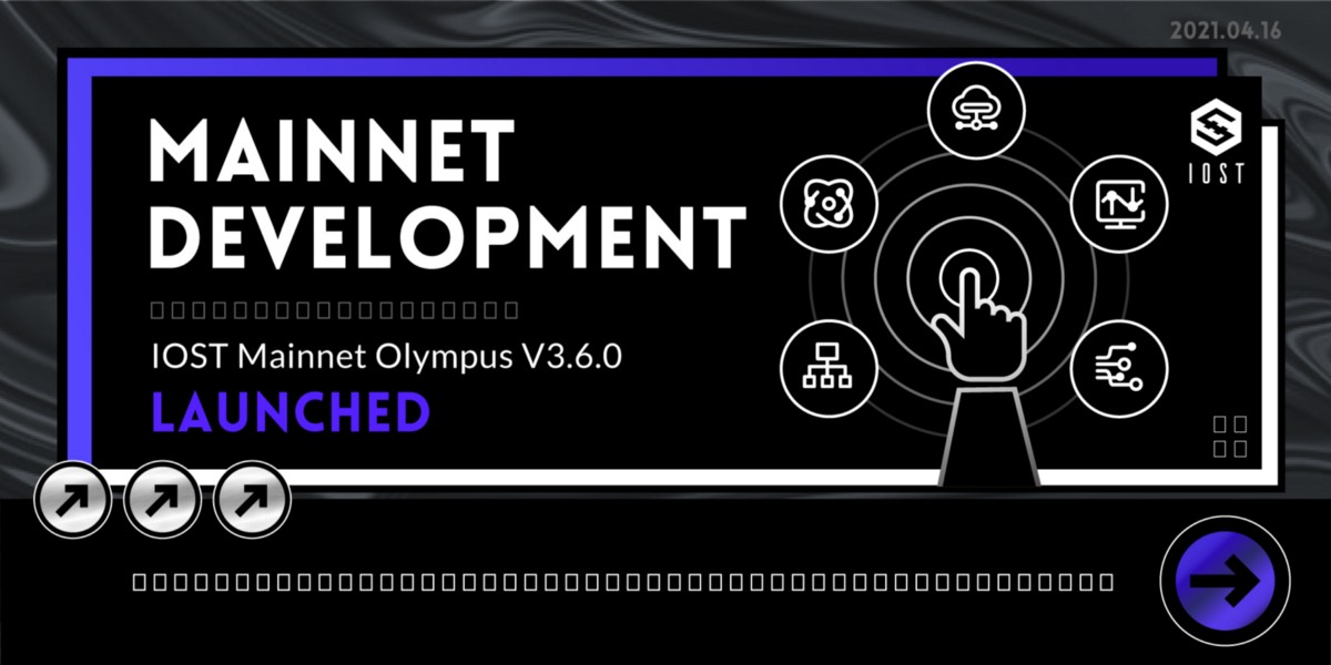 IOST Mainnet Olympus v3.6.0 Is Launched