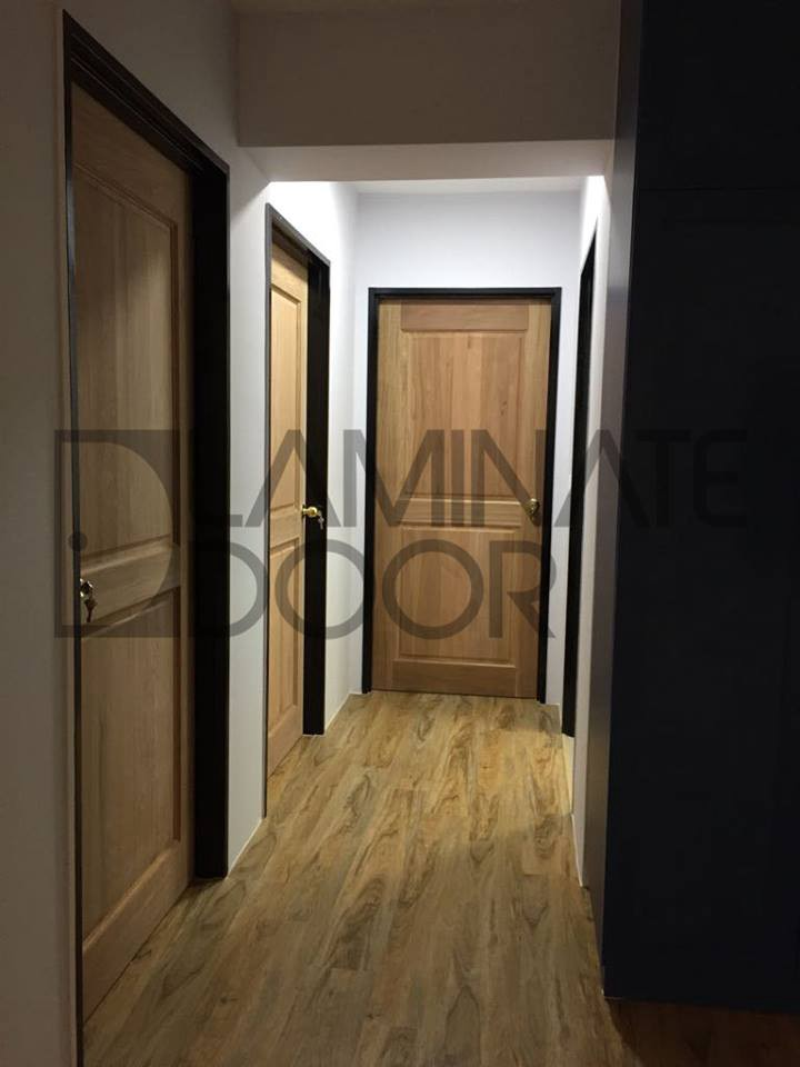 Classic Bedroom Door with Full Solid Wood install for HDB and BTO