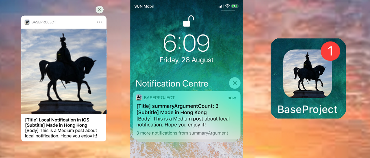 Swift Local Notification All-In-One
