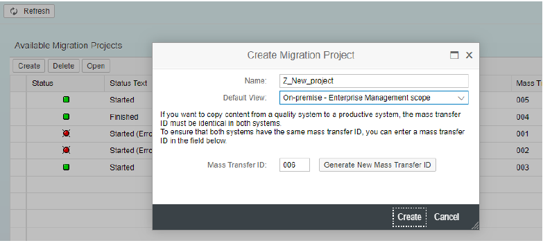 Data Migration in SAP S/4HANA via Migration Cockpit