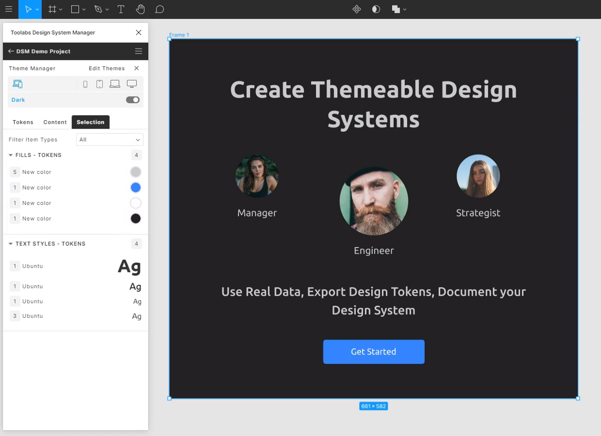 Plugin for Figma : Toolabs Design System Manager