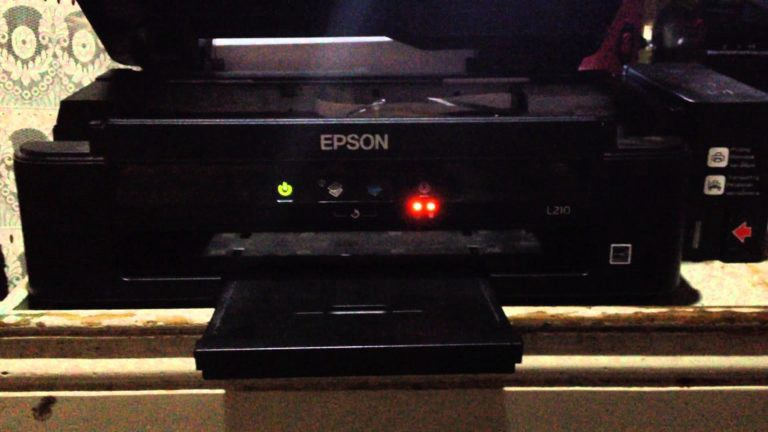 Annoyed by a Red Blinking Light in your Epson L210 Printer