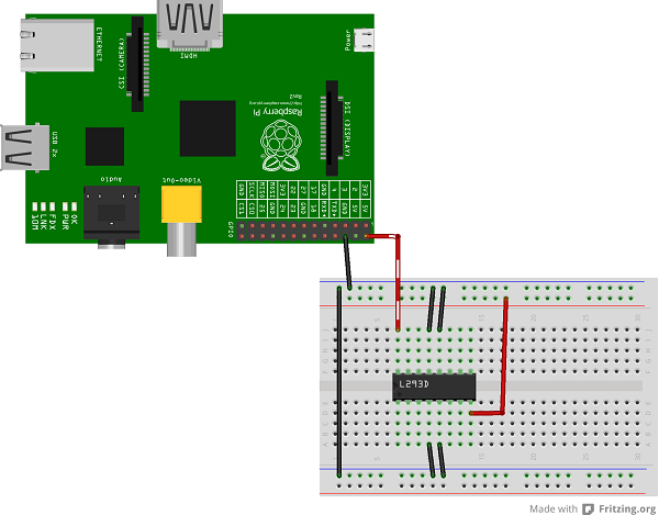 Controlling DC Motors Using Python With a Raspberry Pi (40 pin) on