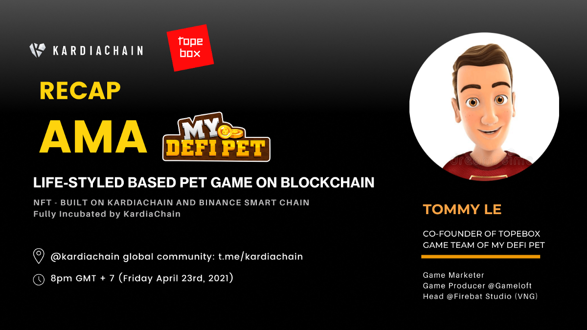 Recap of AMA about My DeFi Pet with Topebox Co-FounderTommy Le