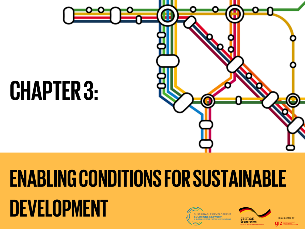 Chapter 3: Enabling Conditions for Sustainable Development