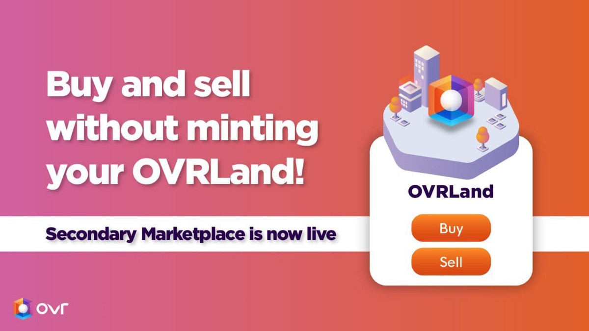 OVR Secondary Marketplace is Live