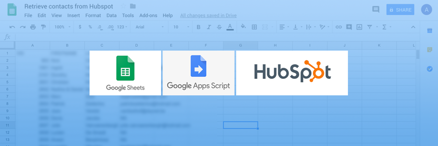 How to retrieve your contacts from Hubspot in Google