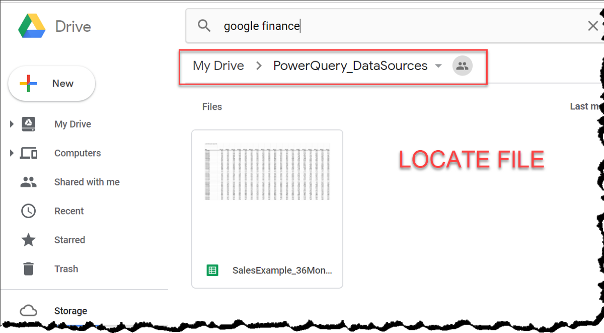 MS Excel—Connecting PowerQuery To An Excel File In The Cloud (Google Drive)—Part 2