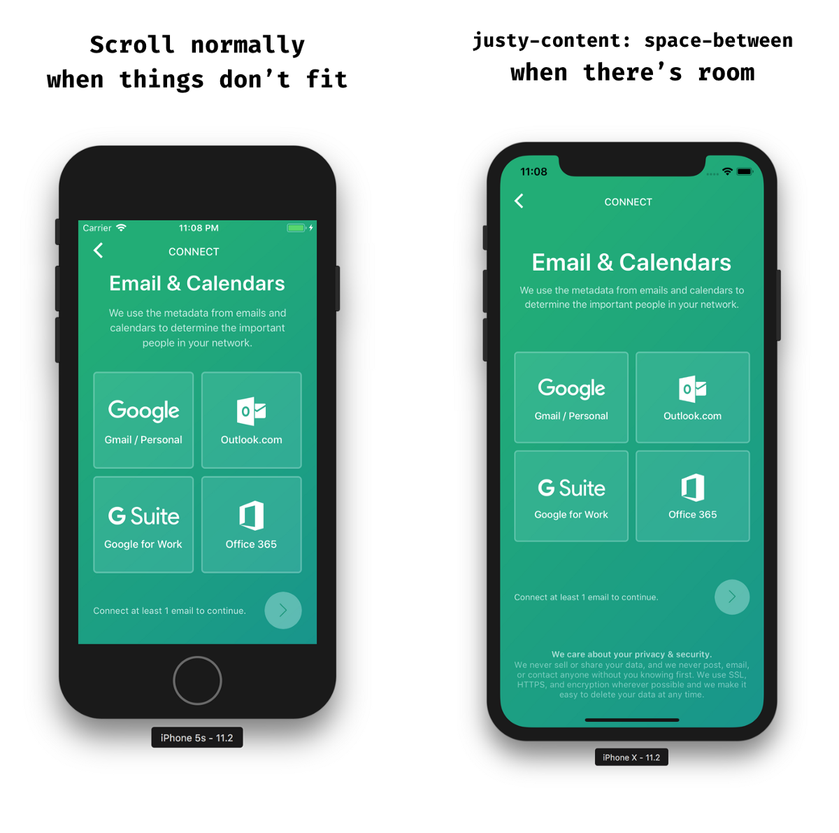 Taming React Native's ScrollView with flex - Peter