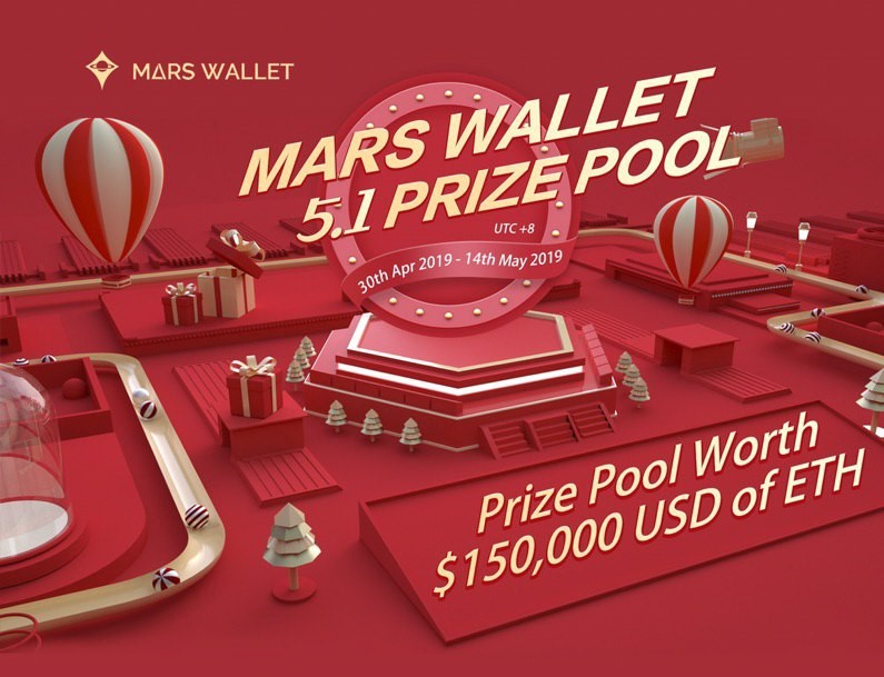 The Mars Wallet Giveaway: Prize Pool worth $150,000USD of ETH for grabs