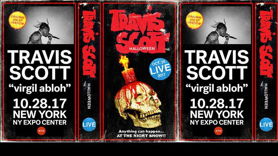 5b48c366f259 Travis Scott To Headline Halloween Show With Special Guest Virgil Abloh at  The NY Expo Center