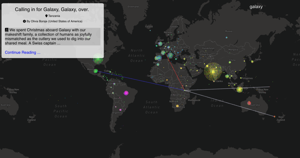 Clustering & Visualizing Travelers' Stories with Doc2Vec and WebGL