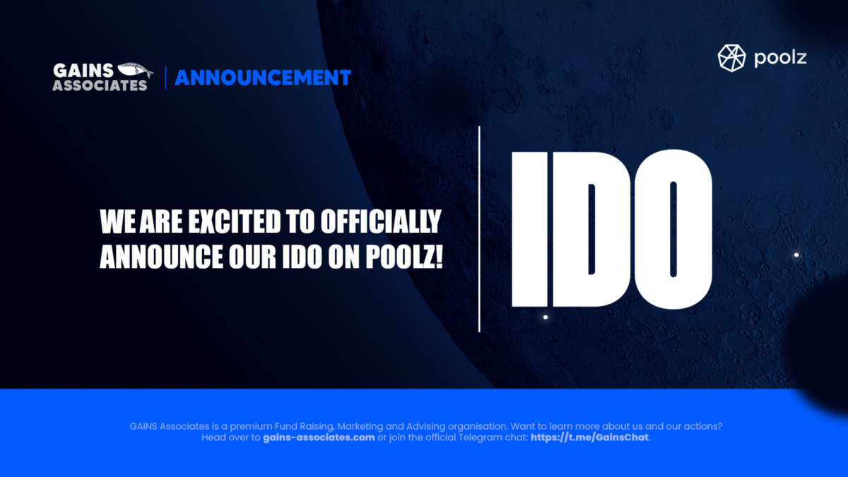 Announcing the GAINS IDO on Cross-Chain IDO Platform Poolz