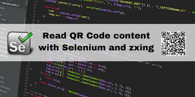 Read QR Code content with Selenium and zxing - Elias Nogueira - Medium
