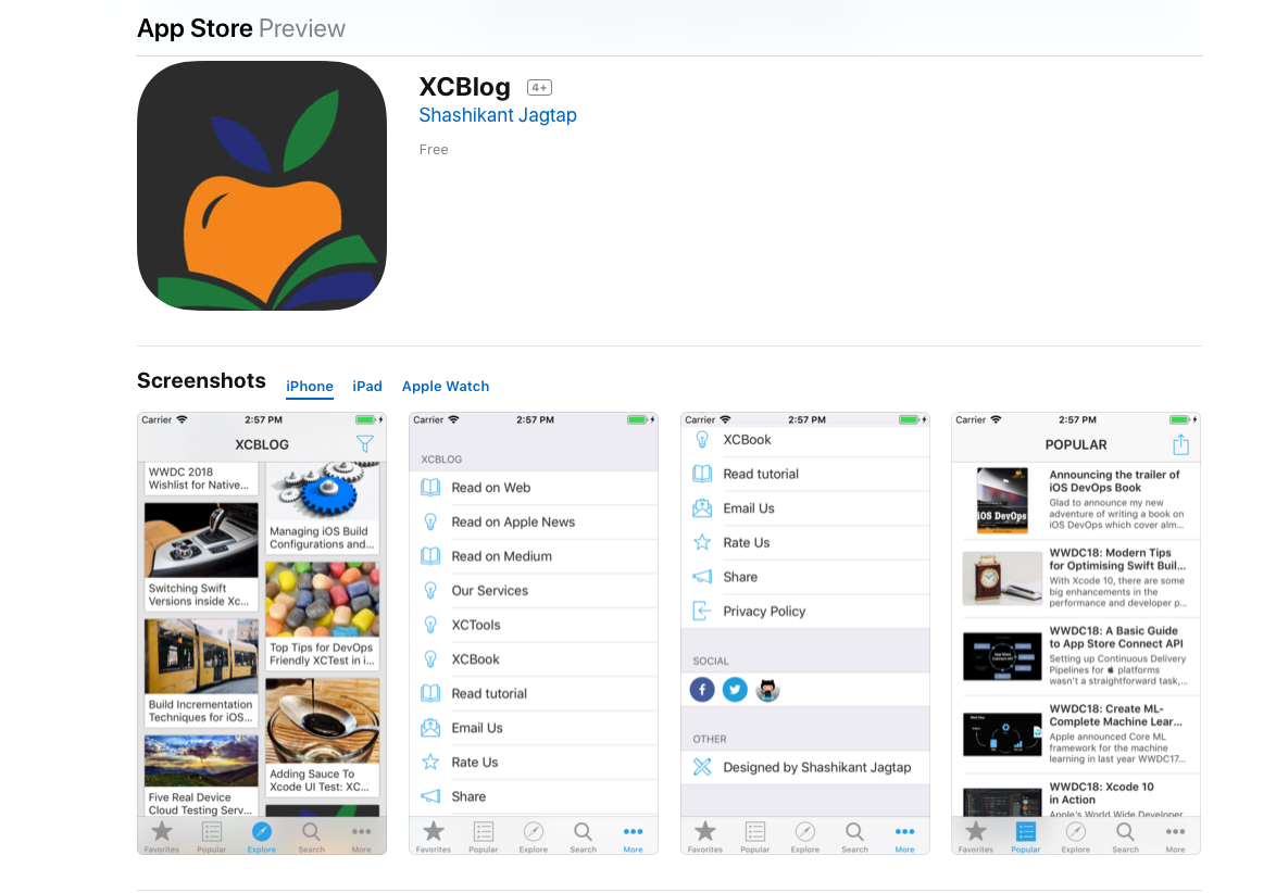 Released XCBlog 2 0 iOS App - XCBlog - Medium