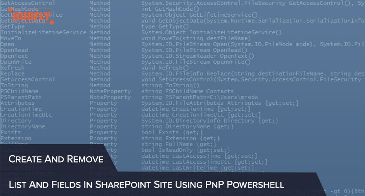 Create And Remove List And Fields In SharePoint Site Using PnP