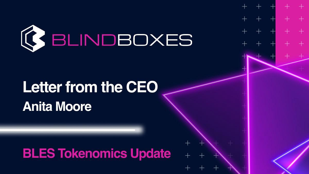 Letter from the CEO—BLES Tokenomics Update