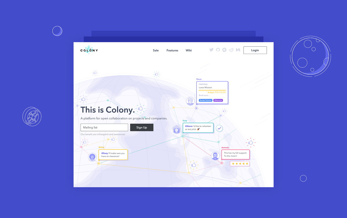 Ui Design Case Study Colony Landing Page For Collaboration Platform By Tubik Studio Ux Planet