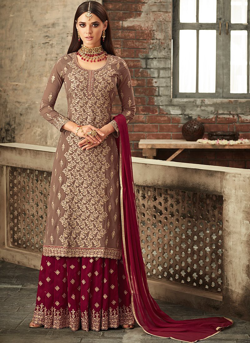 d5308ba83b Be it a Indian Traditional function, wedding function or Festive Season  flaunt your new look with Party Wear Designer Palazzo Suit or Plazo Suit.