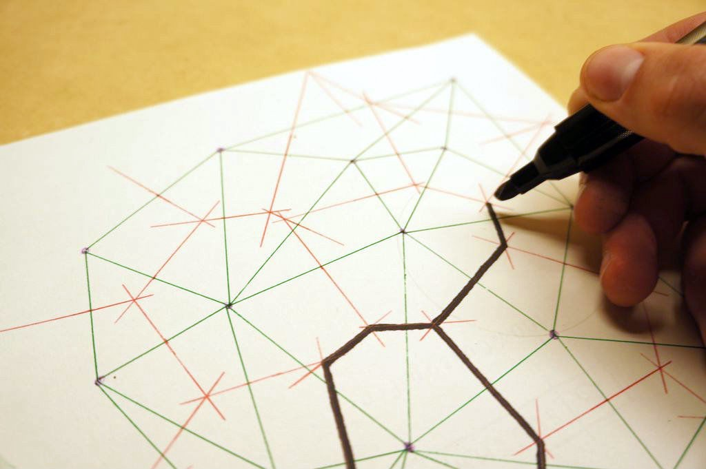 2D Delaunay Triangulation  By Hand  Without a Voronoi Diagram