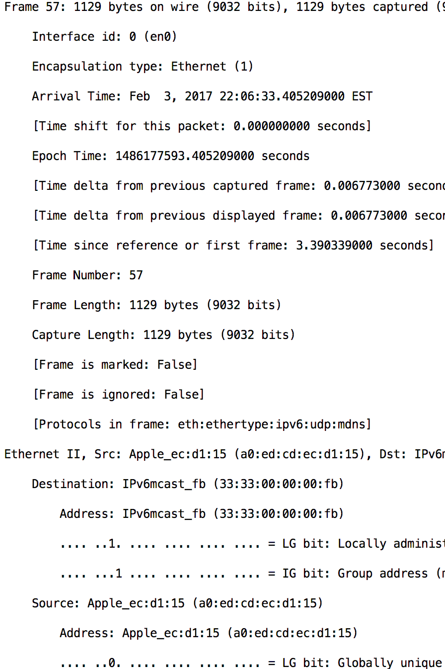 Extracting the payload from Tshark directly file using