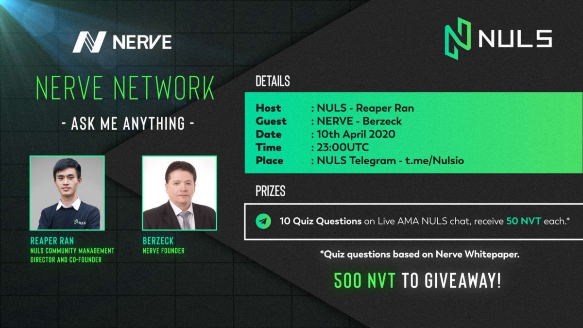 Reveal the Heterogeneous Cross-chain Project NerveNetwork Mystery.--NULS and Nerve AMA Recap